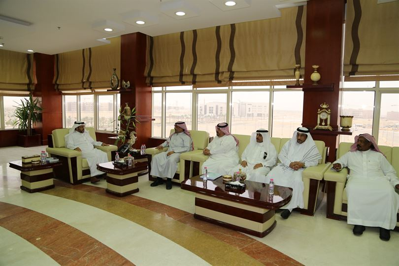 The Board room meeting with Rector hollow begin promotional campaign for Al-Jouf walastth development
